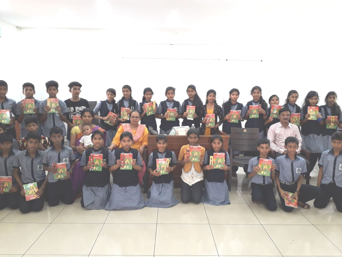 Students learning Konkani in schools